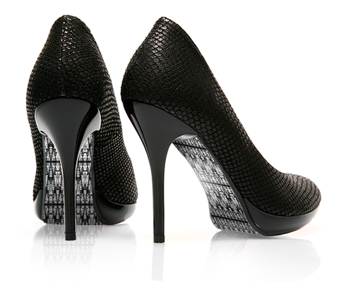 Cathedral Glass Black - decorative shoe decal - newheeltips.com