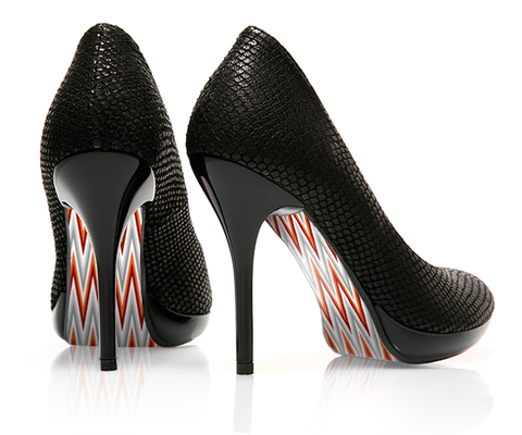 Chevron - Elite - decorative shoe decal - newheeltips.com