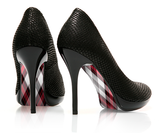 Pretty in Plaid - Madras - decorative shoe decal - newheeltips.com