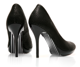 Straight up Stripes - Black - decorative shoe decal - newheeltips.com