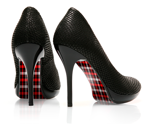 Pretty in Plaid - Tattersall - decorative shoe decal - newheeltips.com