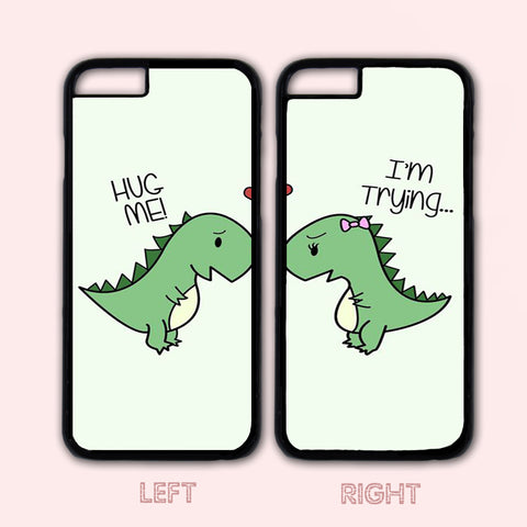 Lover Couple Case,Dinosaur Custom Case,iPhone 6+/6/5/5S/5C/4S/4,Samsung Galaxy S6/S5/S4/S3/S2