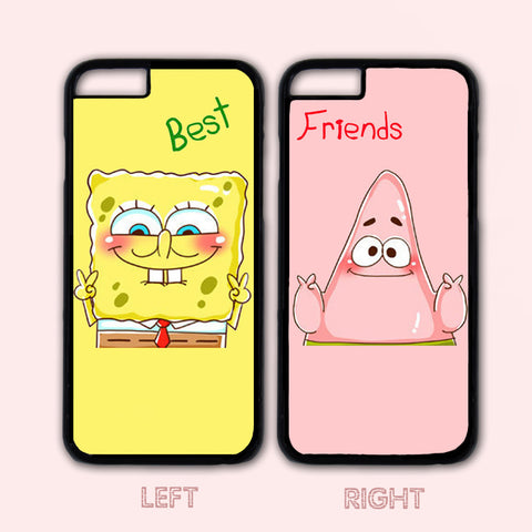 Spongebob and Patrick Couple Case,Custom Case,iPhone 6+/6/5/5S/5C/4S/4,Samsung Galaxy S6/S5/S4/S3/S2