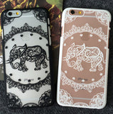 2017 Hollow Out Elephant iPhone 7 se 6 6s Plus Case -0329