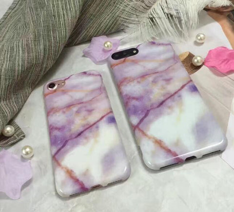 Purple marble stripe for iphone 7 7plus 6 6s 6plus 6s plus 170113