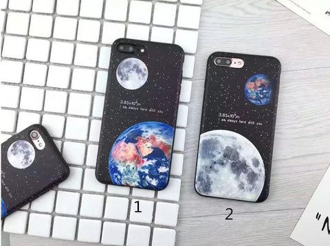 Earth & Moon for iphone 7 7plus 6 6s 6plus 6s plus 170113