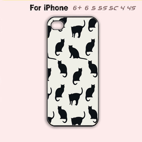 Lots of cute cats Phone Case For iPhone 6 Plus For iPhone 6 For iPhone 5/5S For iPhone 4/4S For iPhone 5C-5 Colors Available