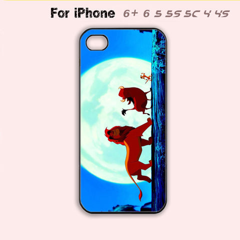 King of Lion Phone Case For iPhone 6 Plus For iPhone 6 For iPhone 5/5S For iPhone 4/4S For iPhone 5C-5 Colors Available
