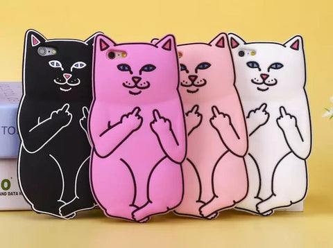 Cute 3D Soft Silicon Cat Case For iPhone 7 7 plus iPhone 8 8 plus Iphone 6 6s / iphone 6 6s Plus / 5 5s +Nice gift box!