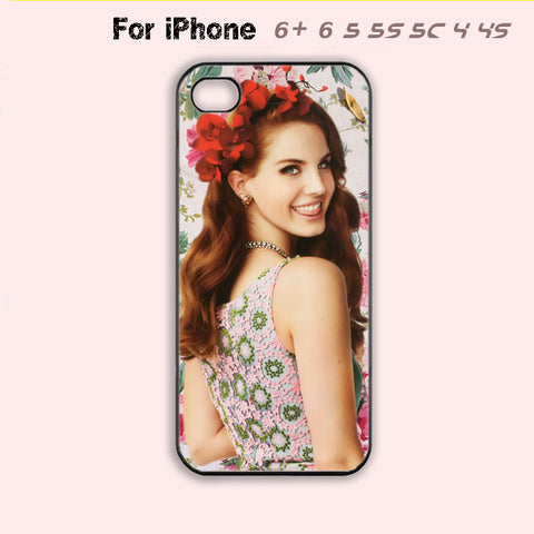 lana del rey Phone Case For iPhone 6 Plus For iPhone 6 For iPhone 5/5S For iPhone 4/4S For iPhone 5C-5 Colors Available