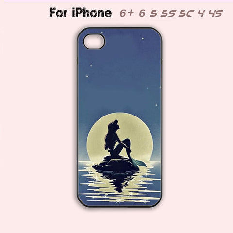 Little Mermaid Phone Case For iPhone 6 Plus For iPhone 6 For iPhone 5/5S For iPhone 4/4S For iPhone 5C-5 Colors Available