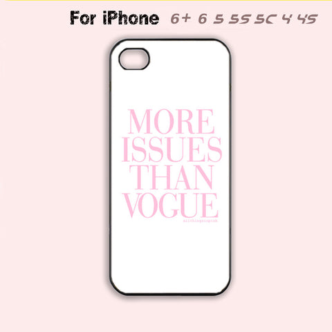 More Issues Than Vogue Phone Case For iPhone 6 Plus For iPhone 6 For iPhone 5/5S For iPhone 4/4S For iPhone 5C-5 Colors Available