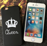 Personality King Queen Mobile Phone Case For Iphone  5 5s SE 6 6s 6plus 6s plus + Nice gift box!