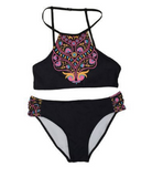 2017 fashion ethnic style high neck two-piece swimsuit Sexy Women swimwear Bath Swimwear -0419