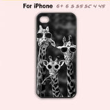 Giraffe with Sunglasses Phone Case For iPhone 6 Plus For iPhone 6 For iPhone 5/5S For iPhone 4/4S For iPhone 5C-5 Colors Available