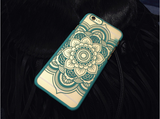 Frosted datura flower lace mobile phone case for iphone 4 4s 5c 5 5s SE 6 6s 6plus 6s plus + Nice gift box!