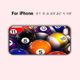 One of a Kind Pool Ball  Phone Case For iPhone 6 Plus For iPhone 6 For iPhone 5/5S For iPhone 4/4S For iPhone 5C-5 Colors Available
