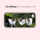 Adorable Kitty Cat Kittens Cute Funny Phone Case For iPhone 7 7 plus iPhone 6 Plus For iPhone 6 For iPhone 5/5S For iPhone 4/4S For iPhone 5C-5 Colors Available