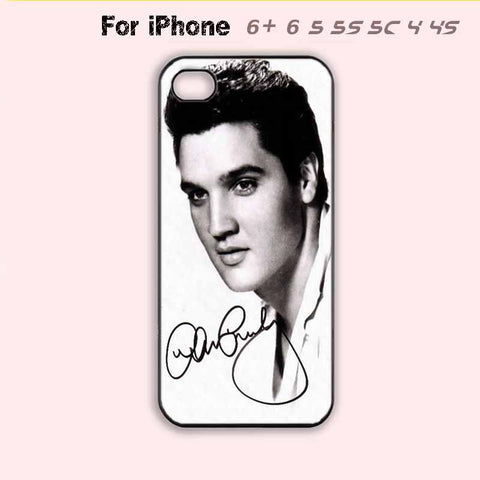 Black and White Elvis Presley Phone Case For iPhone 7 7 plus iPhone 6 Plus For iPhone 6 For iPhone 5/5S For iPhone 4/4S For iPhone 5C-5 Colors Available