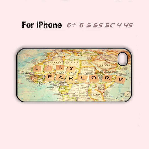 LETS EXPLORE Super Cute Phone Case For iPhone 6 Plus For iPhone 6 For iPhone 5/5S For iPhone 4/4S For iPhone 5C-5 Colors Available