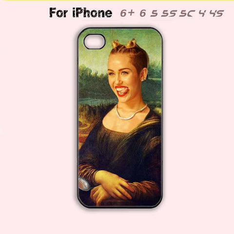 Miley Cyrus Mona Lisa Twerk Phone Case For iPhone 6 Plus For iPhone 6 For iPhone 5/5S For iPhone 4/4S For iPhone 5C-5 Colors Available
