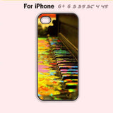 Cute Rainbow Paint Splatter Piano Keys Phone Case For iPhone 7 7 plus iPhone 6 Plus For iPhone 6 For iPhone 5/5S For iPhone 4/4S For iPhone 5C-5 Colors Available