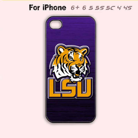 LSU Tigers College Football Purple Phone Case For iPhone 6 Plus For iPhone 6 For iPhone 5/5S For iPhone 4/4S For iPhone 5C-5 Colors Available