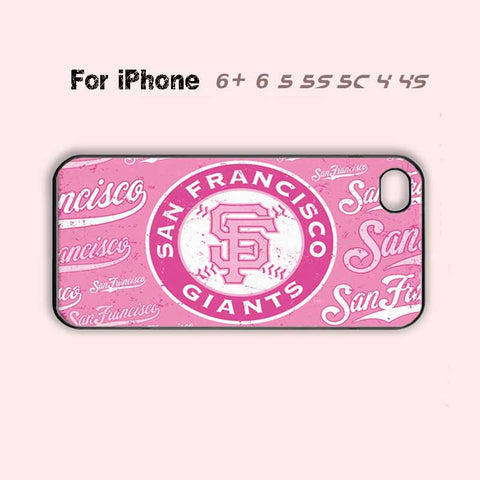 Baseball San Francisco Giants Cute Pink Phone Case For iPhone 7 7 plus iPhone 6 Plus For iPhone 6 For iPhone 5/5S For iPhone 4/4S For iPhone 5C-5 Colors Available