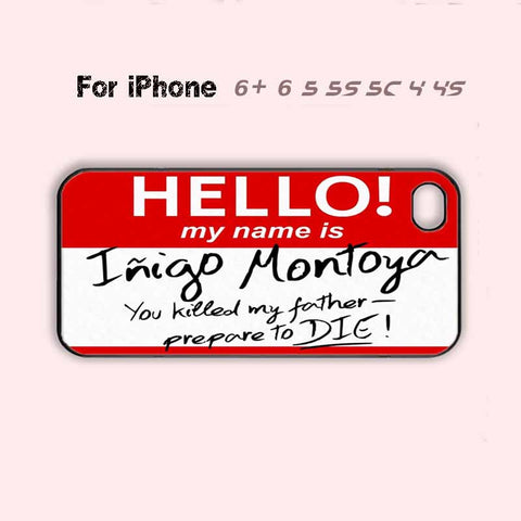 Cute Funny Red Name Tag  Phone Case For iPhone 7 7 plus iPhone 6 Plus For iPhone 6 For iPhone 5/5S For iPhone 4/4S For iPhone 5C-5 Colors Available