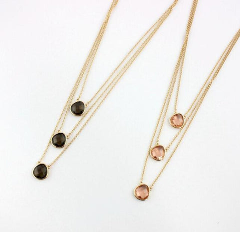 Fashion natural stone necklace