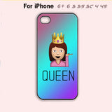 Drama Queen Emoji Funny Phone Cover Girly Cute Case iPhone 4 4s 5 5s 5c 6 Plus +-5 Colors Available