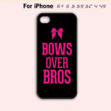 Bows Over Bros Pink Bow Cute Cheer Cheerleader Phone Case iPhone 7 7 plus iPhone 4 4s 5 5s 5c 6-5 Colors Available