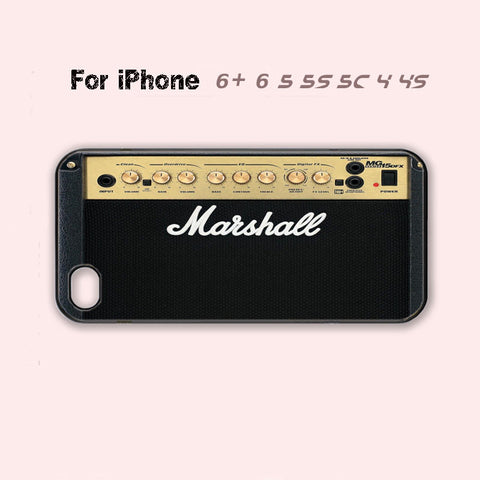Marshall Amp Amplifier Cute Cool Case iPhone 4 4s iPhone 5 5s 5c 6 Plus Cover +-5 Colors Available