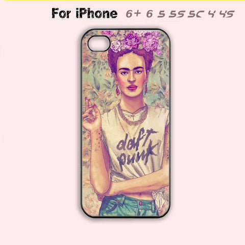 Cute Frida Kahlo Phone Case Cool Hipster Cover iPhone 7 7 plus iPhone 4 4s 5 5s 5c 6 Plus + New