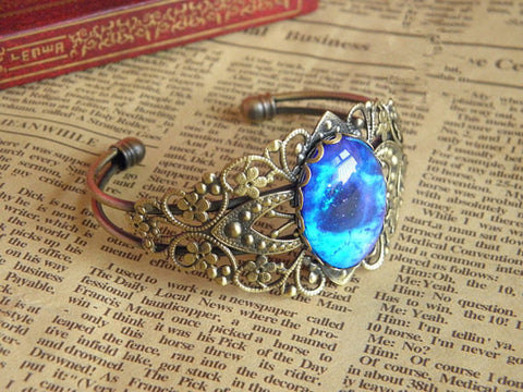 antique bronze galaxy sky bracelet