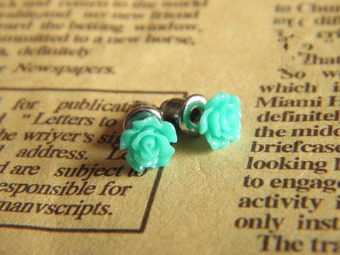turquoise cute flower earrings jewelry