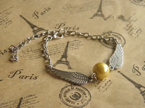 antique silver wing bracelet jewelry