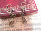 antique bronze deer earrings jewelry