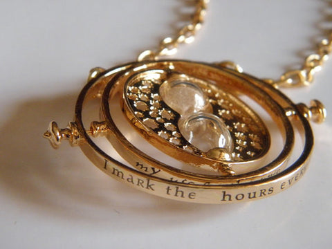 Rotating Time Turner Necklace