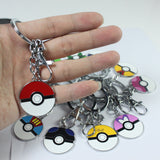 Pokeball lps Keychain Pokechu cards Elf ball brinquedos metal jewelry pendant ——Christmas Gift