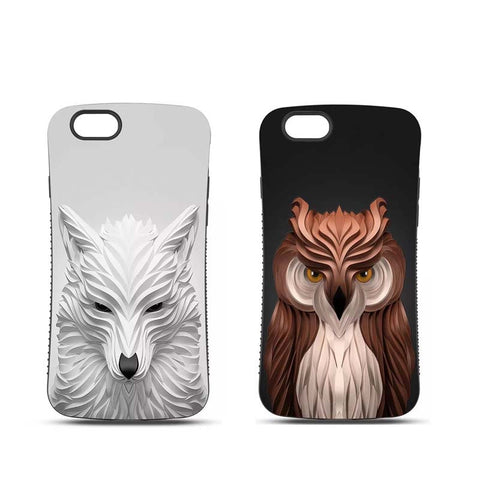 3D Wild Animals Soft Silicon Hard PC For iPhone