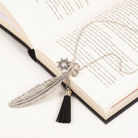 Fashion Tassel Feather Pendant Necklace