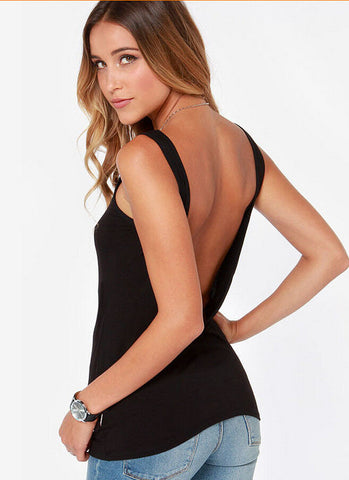 Summer sexy backless top