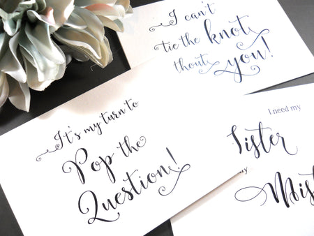 Personalized Bridesmaid Cards