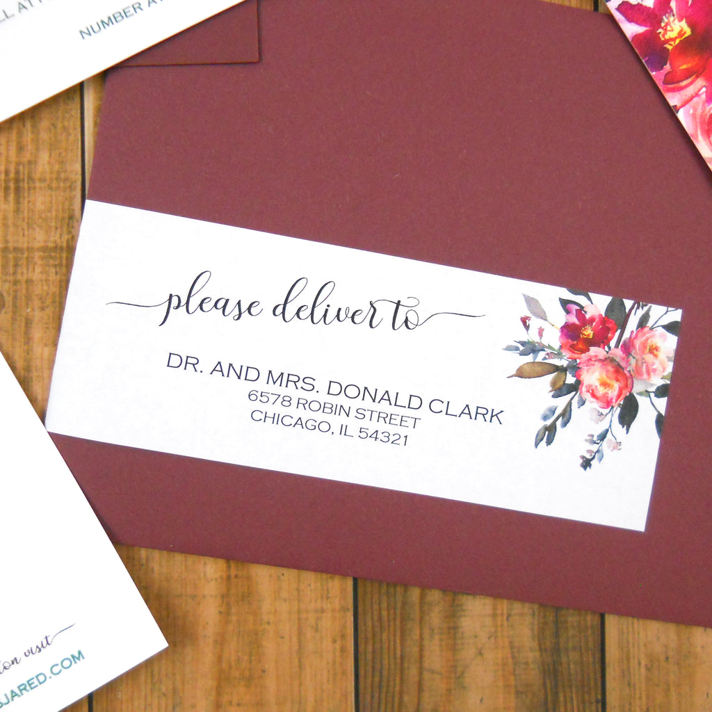 Wrap Around Address Labels | Long Shadow Paper Company