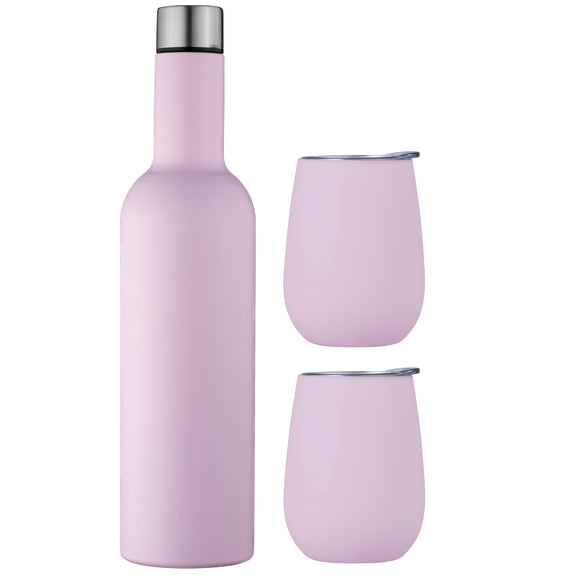 Avanti - Double Wall Insulated Wine Traveller Set - Assorted Colours