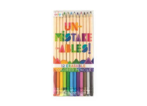 Unmistakeables 12 erasable coloured pencils