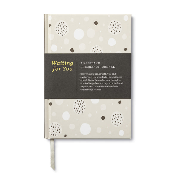 Keepsake Pregnancy Journal Book - Waiting for you