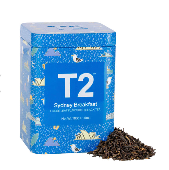 T2 Tea : Loose Leaf Flavoured Black Tea Icon Tin 100g - Sydney Breakfast
