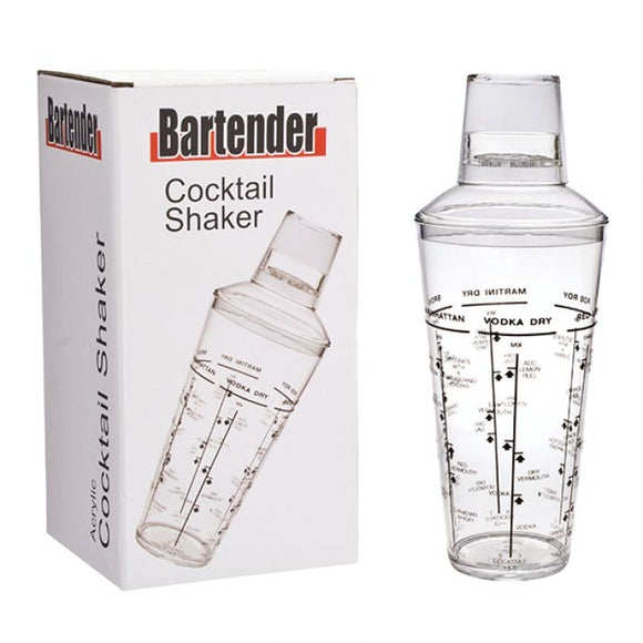 Bartender Acrylic Cocktail Shaker - 750ml